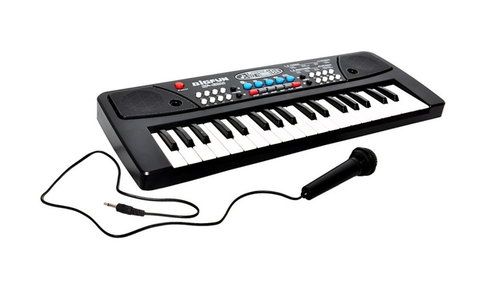 Bulk Buys OB760-1 Multi Color Electronic Keyboard with Microphone