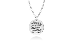 Sister by Heart Friendship Necklace