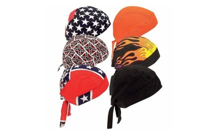 6 Pack Assorted Cotton Bandanas
