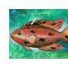 Yonel Orange Fish Canvas Print