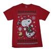 Christmas Peanuts Snoopy Woodstock Fair Isle Graphic T-Shirt