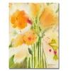 Sheila Golden Orange Flowers Canvas Print