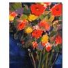 Sheila Golden Blue Wall Canvas Print
