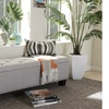Hannah Fabric-Upholstered Button-Tufted Storage Ottoman Bench