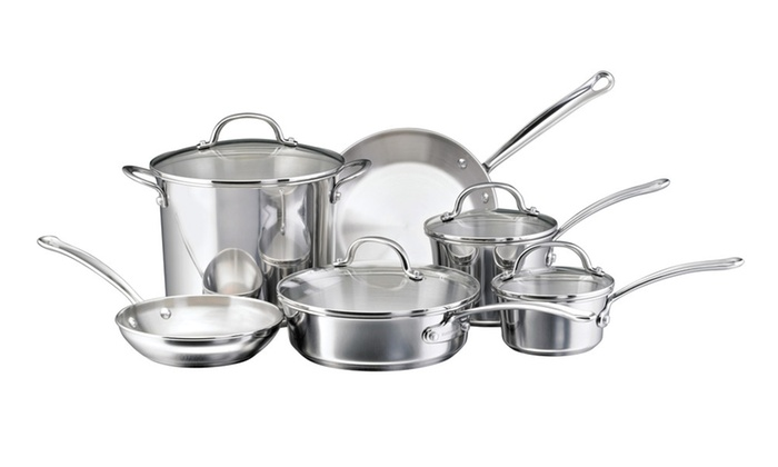 Farberware Millennium Stainless Steel Cookware 10-Pc Set