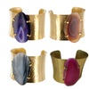 Genuine Brazilian Agate Wide Bracelet - Assorted Colors