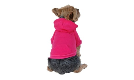 Pink Dog Pet Puppy Plain Sweatshirt Hoodie Shirt Jacket Coat Small 41a632cc-b65f-4c9e-b1e7-e43b52de789d