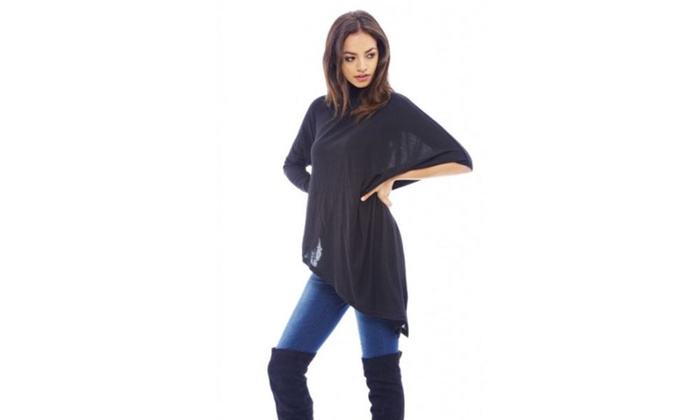 AX Paris Asymmetric Knitted  Sweater
