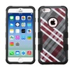Insten Diagonal Plaid Dual Coated Silicone Case For Iphone 6 6s Gray