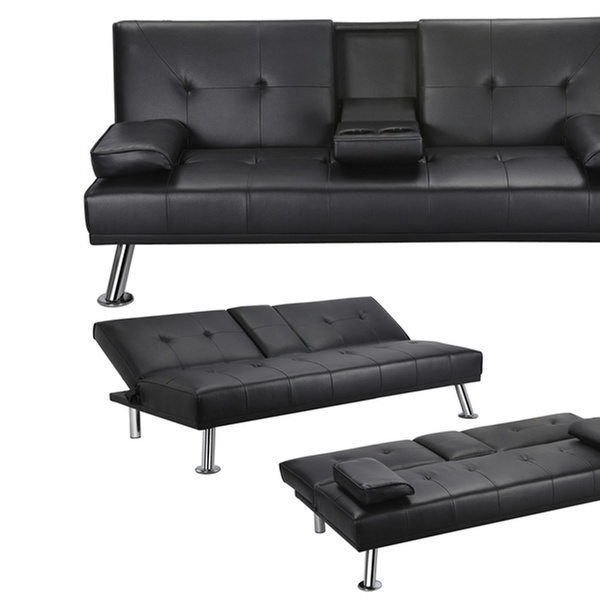 Off On Futon Sofa Bed Modern Faux L