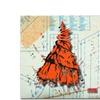 Roderick Stevens Shoulder Dress Orange n Black Canvas Print