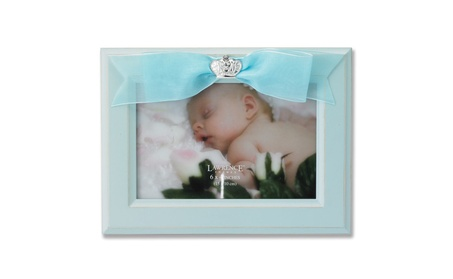 4x6 Blue Wood Picture Frame with Blue Ribbon adbb0912-5eed-44a6-9cc5-d9c9567d99f8
