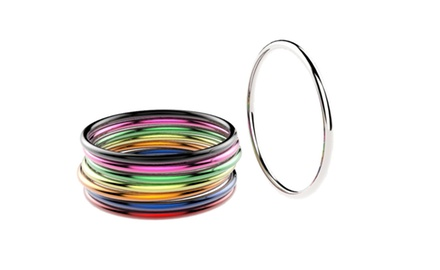Sterling Silver Multicolor Stackable Rings