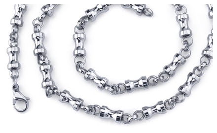 Mens Youthful and Unique: Steel Dumbbell 22 inch Chain SN8914