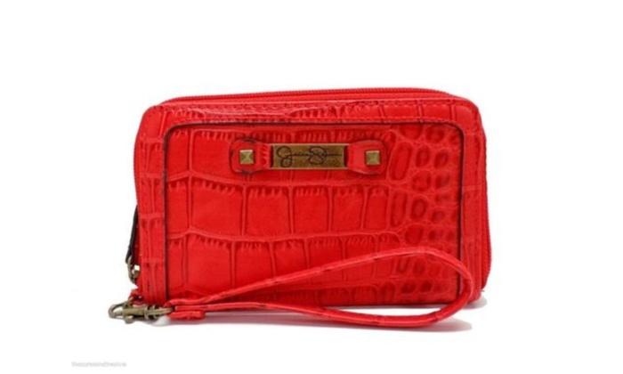 Jessica Simpson Daisy Too Wristlet Tech Wallet Clutch, Medium