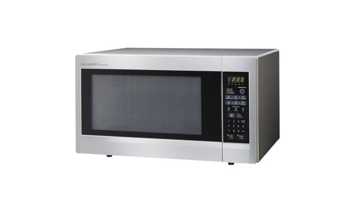 1200w Stainless Sharp Carousel Countertop Microwave Oven 2 Cu Ft