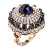 Luxury Big Crystal Stone Antique Women's Ring