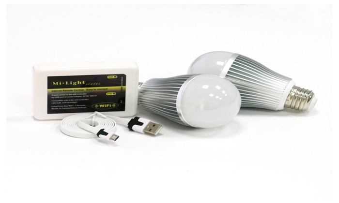 Color Changing LED Bulb Bundle. 2 Bulbs & WIFI Control Box