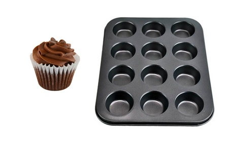 12 Cup Non-Stick Muffin Pan For Making Excellent Cupcakes 81c3ff37-6ba1-4d32-8e04-b6c3d61e7807