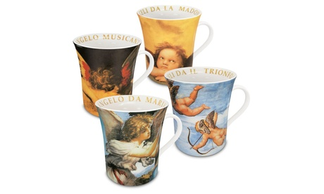 Set of 4 Assorted Angel Mugs 2503c2fa-7938-43f9-ac56-91b449df1147