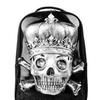 Unisex Skull 3D Rivet Laptop Backpack