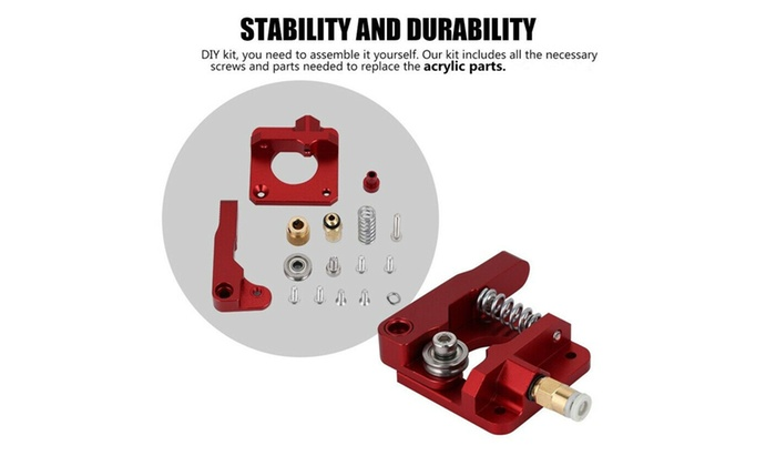 Upgrade Aluminum MK 8 Extruder Drive Feed Frame For CR-10//10S Series 3D Printer