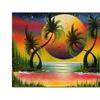 Conrad Lagoon at Sunset Canvas Print 18 x 24