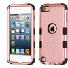 Insten Tuff 3 Layer Hybrid Case For iPod Touch 6 5 Rose Gold Black