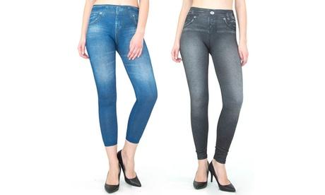 INDERO Junior Denim Look Leggings 2PACK 38d332cc-ca32-458b-89f8-1882daae11e6