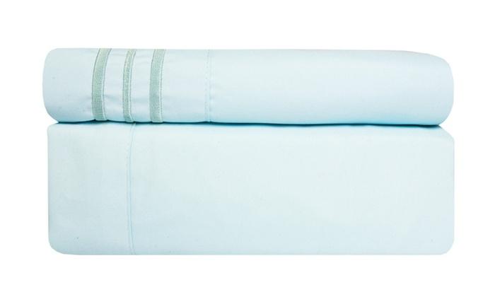 Incredibly soft 4 piece deep pocket bed sheet set groupon for Homeowner selection sheet
