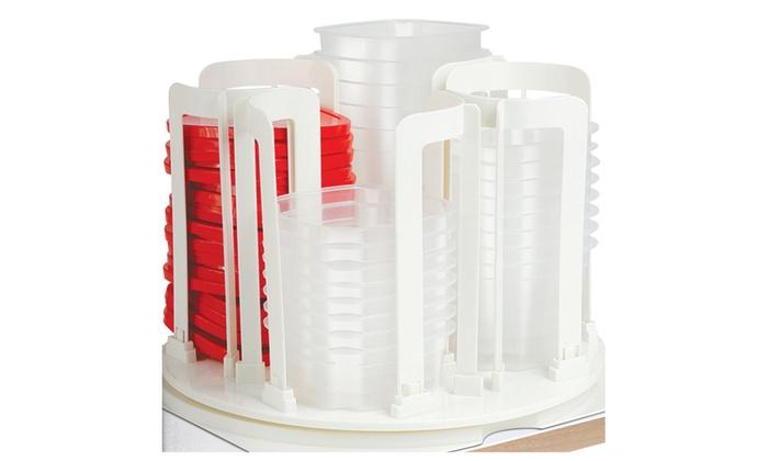 49 Piece Swirl Around Food Storage Container Organizer With Carousel