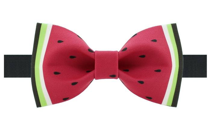 Shefetch Men's Stylish Casual Printed Bow Tie
