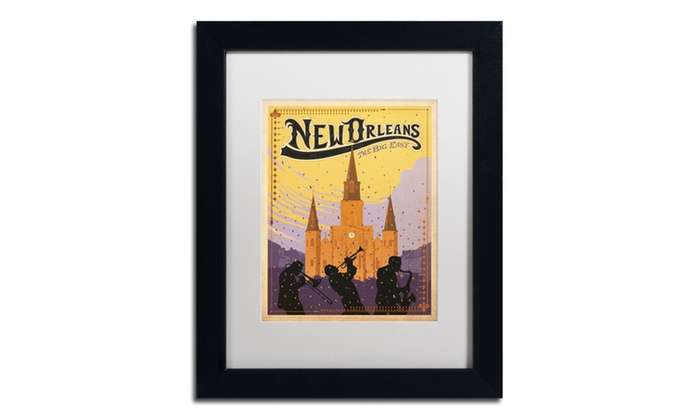 Anderson design group 39 new orleans 39 matted framed art for Craft store new orleans