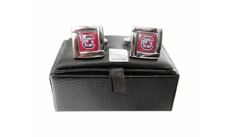 NCAA South Carolina Gamecocks Square Cufflinks Gift Box Set 226c8d2d-044f-407f-8ec4-04a2d8443739
