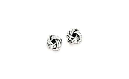 IceCarats Designer Jewelry Sterling Silver Love Knot Post Earrings