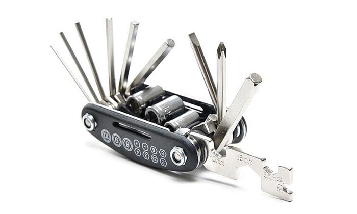 16 in 1 Bike Repair Tool and Bicycle Chain Splitter Cutter Breaker