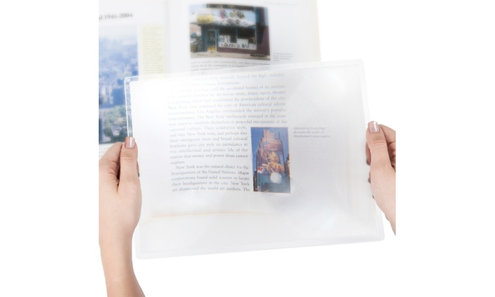 3x Print Magnifier Sheet - 8.5 x 11 Inches