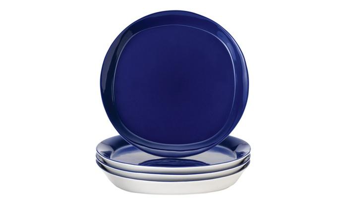 Rachael Ray Dinnerware Round & Square 4-Piece Dinner Plate Set | Groupon