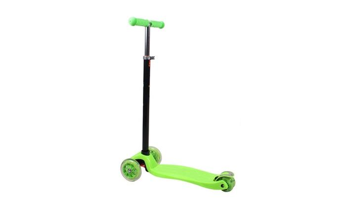 Kids Scooter LED Flashing Wheels Push Adjustable Child Scooter New Designe LED