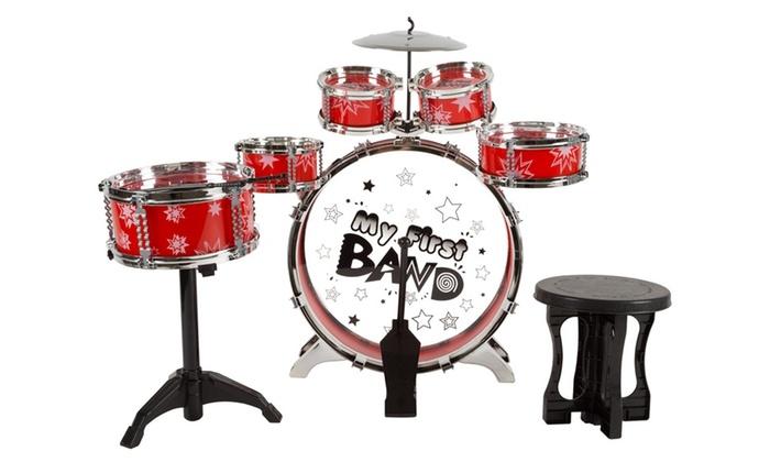 up to 61 off on toy drum set for kids groupon goods. Black Bedroom Furniture Sets. Home Design Ideas