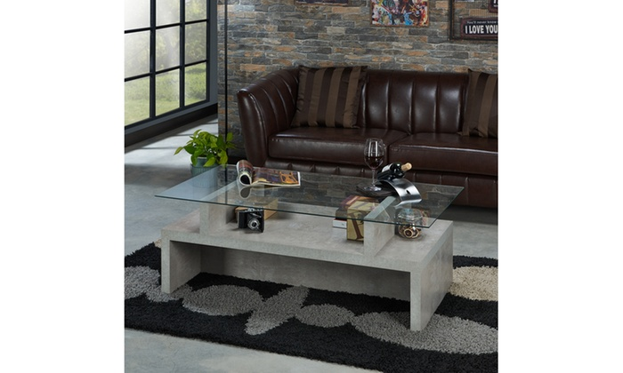 Fine Floyd Cement Contemporary Coffee Table Groupon Onthecornerstone Fun Painted Chair Ideas Images Onthecornerstoneorg