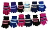 Wholesale Sock Deals: Womens excell Winter Fuzzy Gloves, Colorful, Fits Kids, One Size
