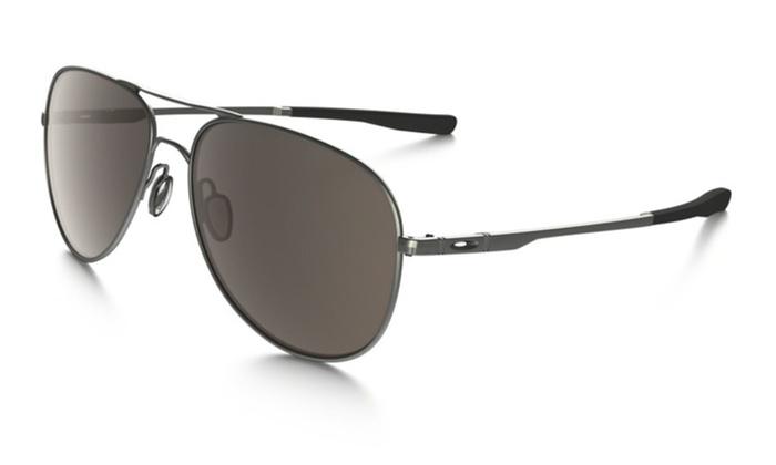 Oakley Elmont Aviator Sunglasses With Gunmetal Frame and Warm Grey ...