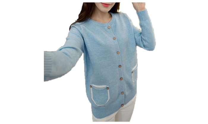 DPN Women's Chic Latest 5 Colors 1 Sizes 2015 Autumn Knited Cardigans
