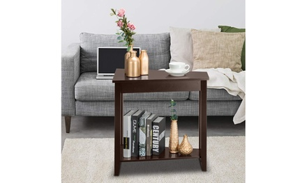 Modern Wooden Living Room Furniture End Shelf Side Table Coffee