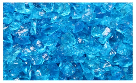 Bermuda Blue Crushed Fire Glass 3/8