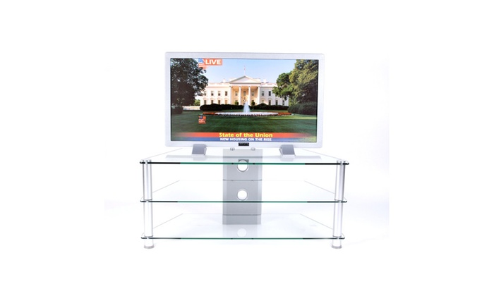 42 Inch And Below Plasma Tv Stand Clear Tempered Glass With Wire