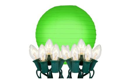 "Electric String Light with 10"" Paper Lanterns - (10 Count) f9dd04f4-1d77-42d3-8f16-daec01b6b3fc"