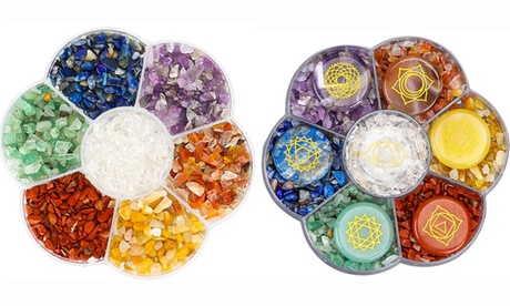 7 Chakra Healing Natural Crystal Chip Stone Beads Set for Jewelry Making