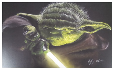 Yoda The Empire Strikes Back Jedi Knight Limited Edition Litho Print cf850d10-8b2a-4915-ad45-c0d599ebdc5d